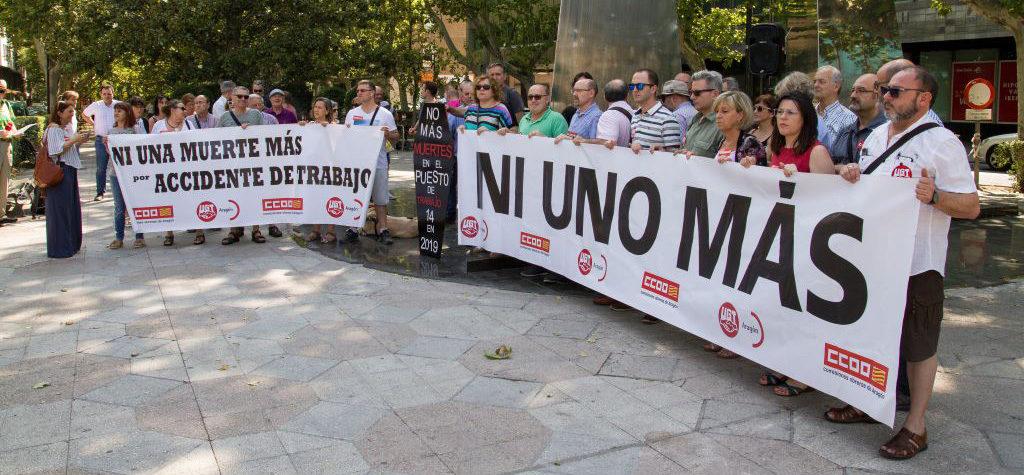 16 personas han perdido la vida en el centro de trabajo en lo que va de año en Aragón