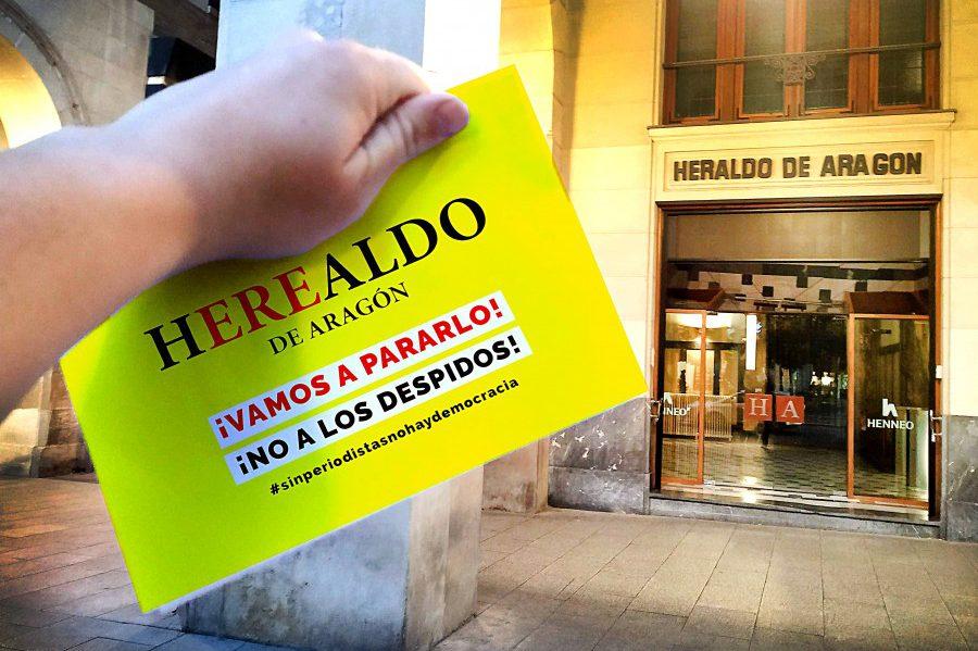 El comité de Heraldo de Aragón convoca una huelga de cinco días en protesta contra el ERE
