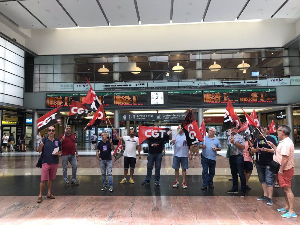 Seguimiento superior al 85% en la huelga de trenes convocada por CGT