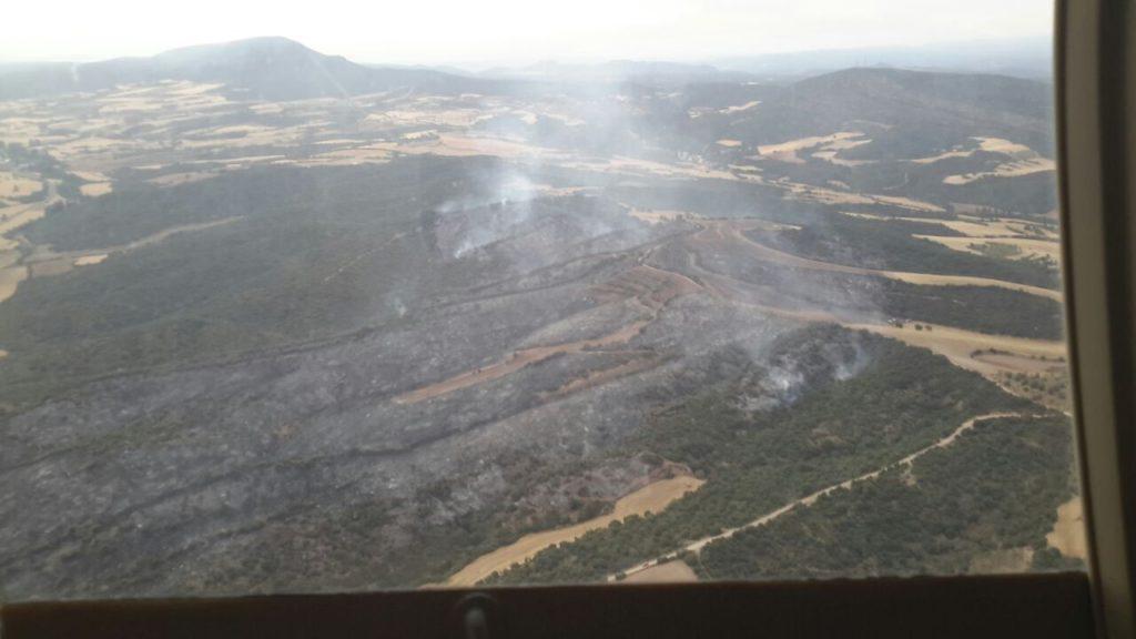 Controlados los incendios de Alcampell y Graus