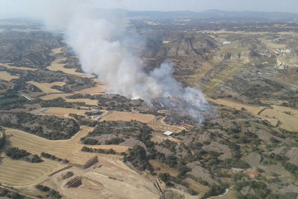 La ola de calor llega a su fin dejando a su paso más de 263 hectáreas quemadas en 20 incendios en Aragón