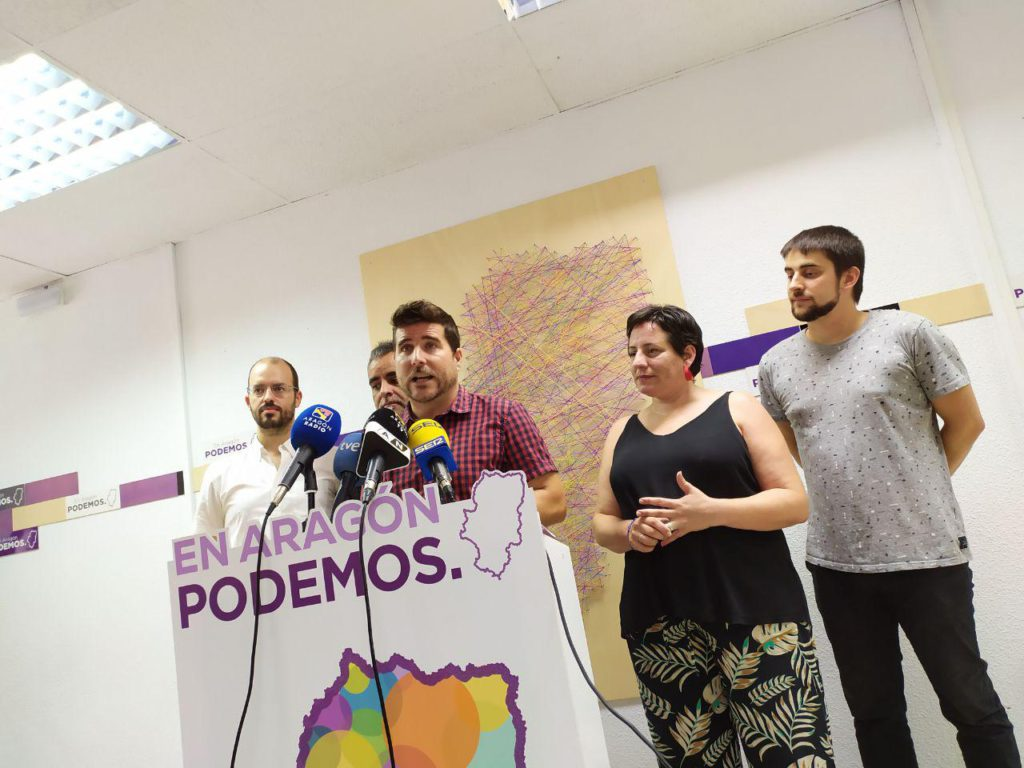 Escartín traslada a Iglesias la exigencia de CHA de retirar la candidatura de Pablo Echenique