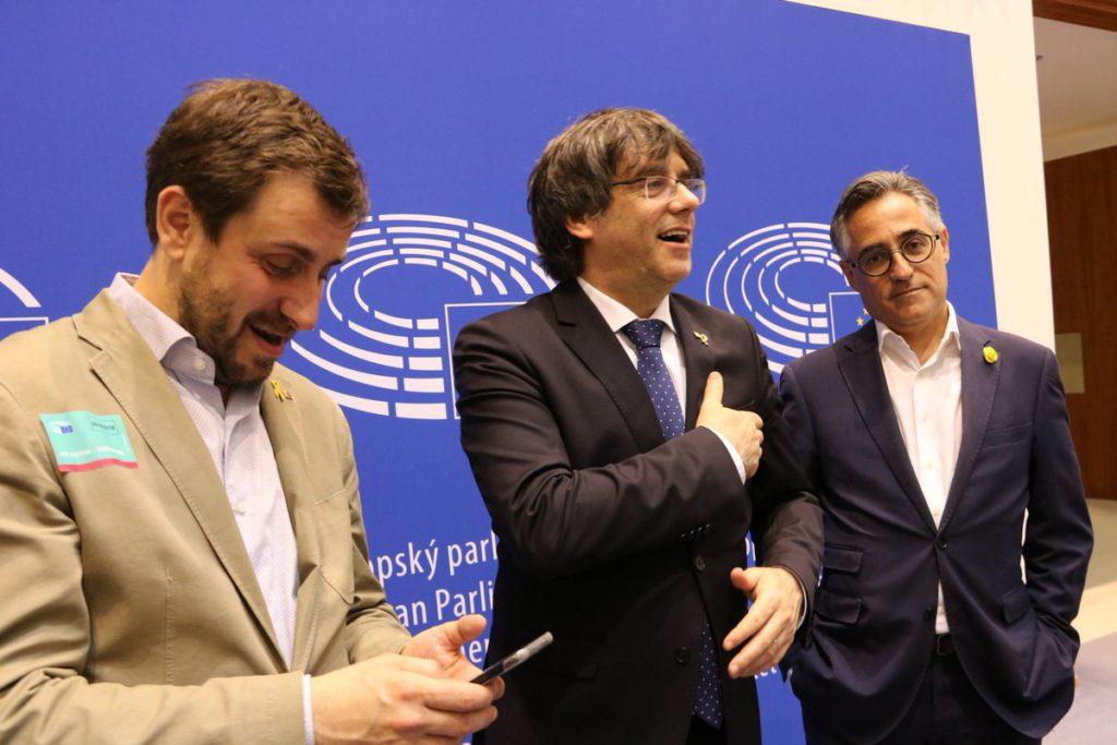 El Tribunal General de la UE desestima la petición de Puigdemont y Comín sobre su escaño