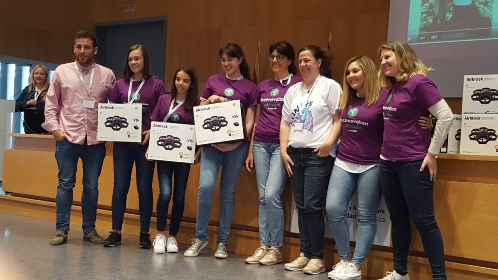 El equipo aragonés TECH4JEL, campeón continental europeo en el concurso Technovation Challenge