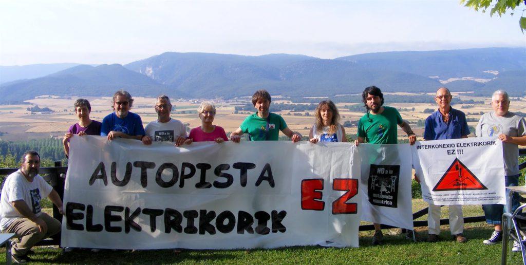 Aragón, Catalunya y Euskal Herria se unen contra las autopistas eléctricas