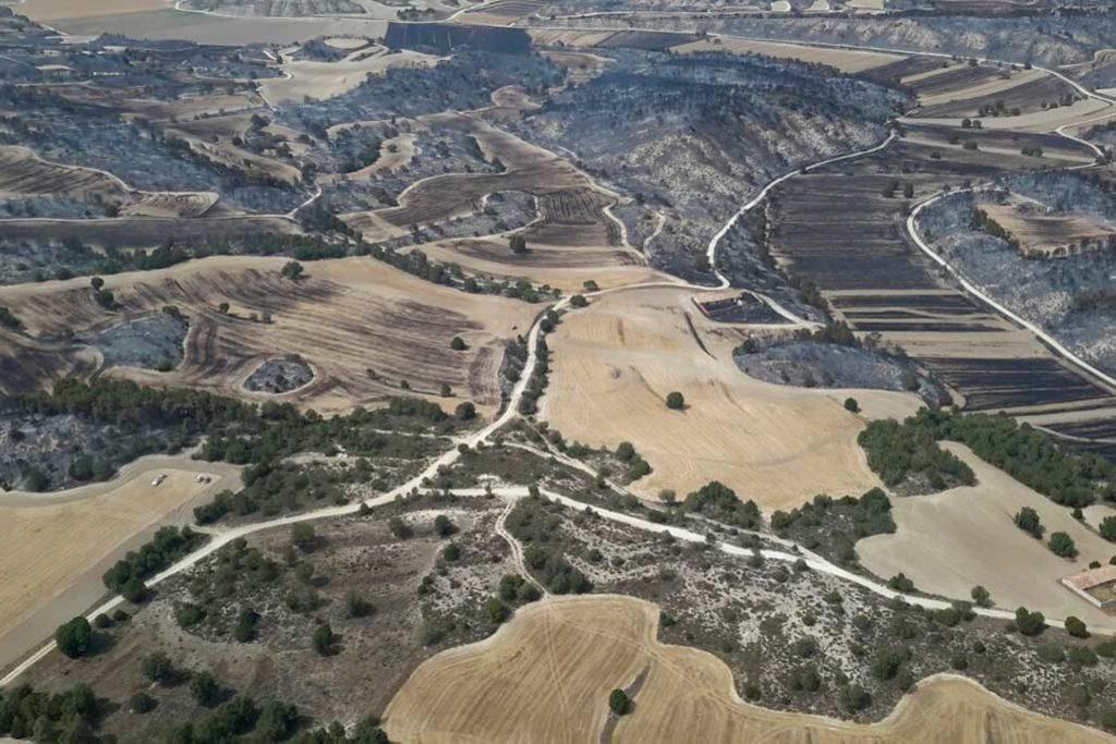 """El Gobierno de Aragón da por """"controlado"""" el incendio de Perdiguera y Leciñena"""