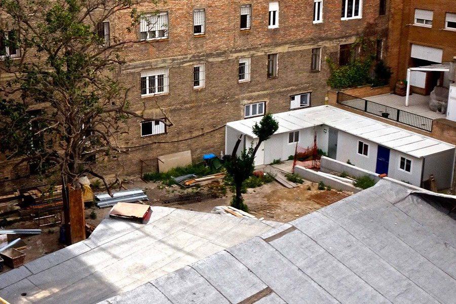 APUDEPA denuncia la destrucción de un jardín histórico protegido en las obras de un edificio en la calle San Miguel