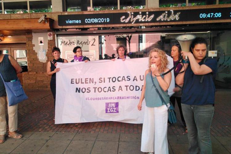 Readmitida la trabajadora de Eulen que fue despedida por participar en la huelga feminista