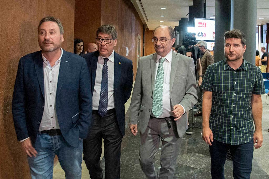 El cuatripartito espera que el Gobierno de Sánchez «sea un aliado en el impulso de políticas justas y sostenibles para Aragón»