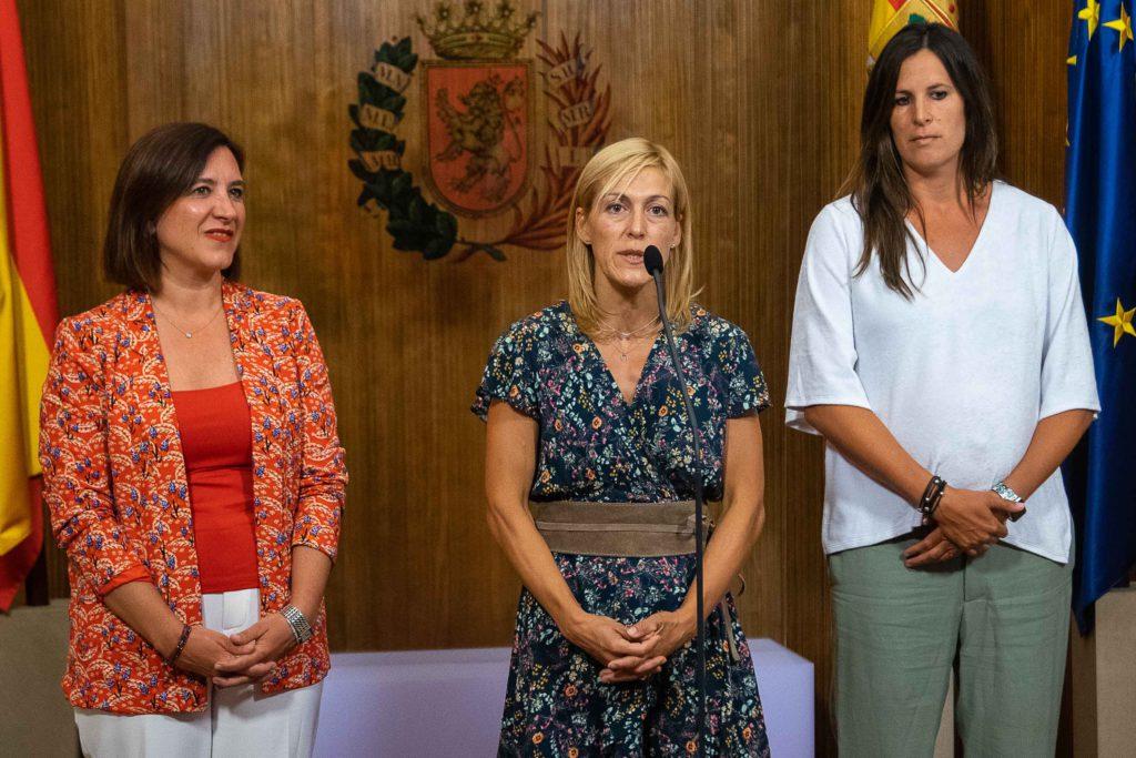 Recepción en el Consistorio a la zaragozana Ana Belén Fernández, campeona de Europa de judo
