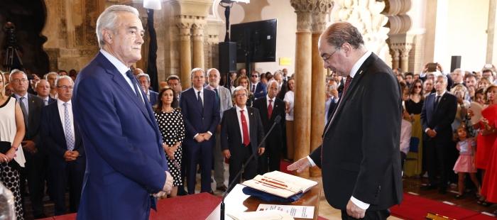 Lambán toma posesión de su cargo como Presidente de Aragón