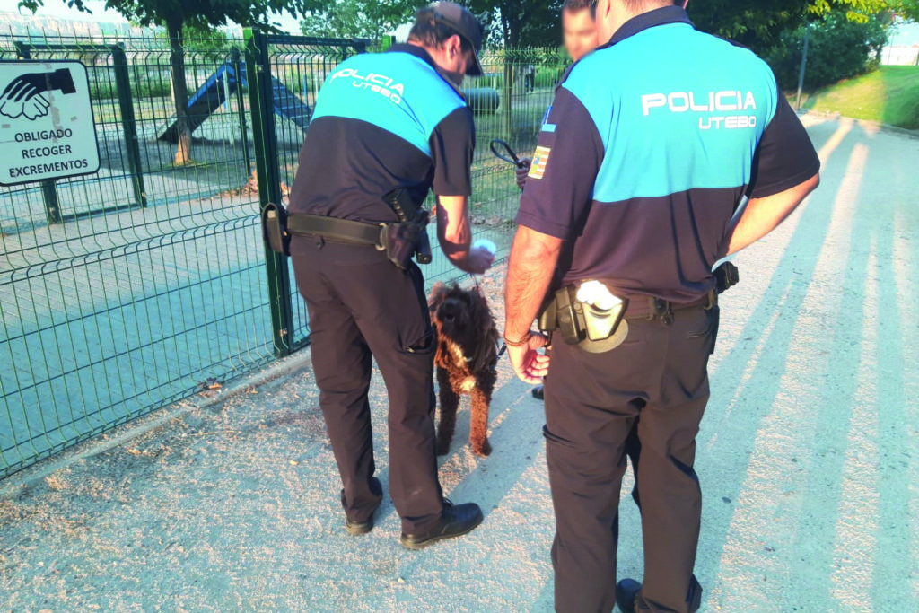 La Policía Local de Utebo lleva a cabo una campaña especial de control de perros en los parques