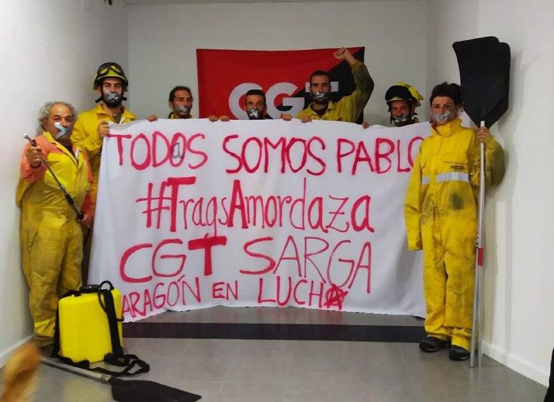 CGT condena la sanción impuesta al bombero forestal tras realizar declaraciones a la prensa