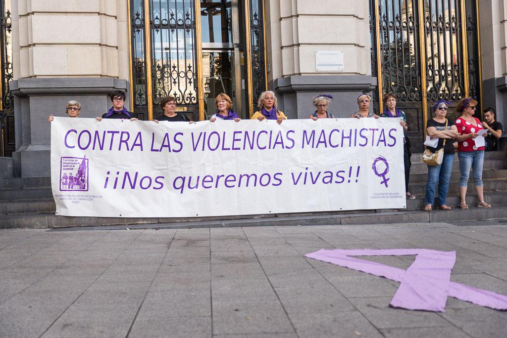 Primera concentración contra las violencias machistas del año en Zaragoza