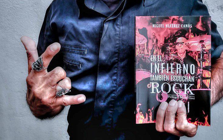 Miguel Alférez presenta en Las Armas su libro 'En el infierno también escuchan Rock'