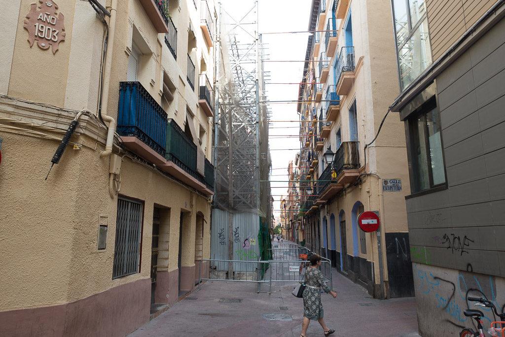 """La AV Lanuza Casco Viejo, Calles Dignas y Apudepa se oponen al derribo """"sistemático"""" de la arquitectura consolidada del centro histórico de Zaragoza"""