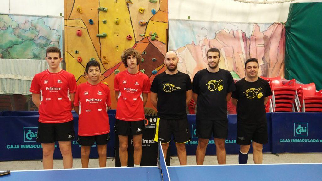 Arrancan las ligas estatales para los equipos aragoneses de tenis de mesa