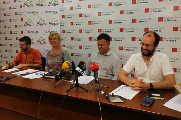 """Con Huesca pide al ayuntamiento la declaración de """"estado de emergencia climática"""""""
