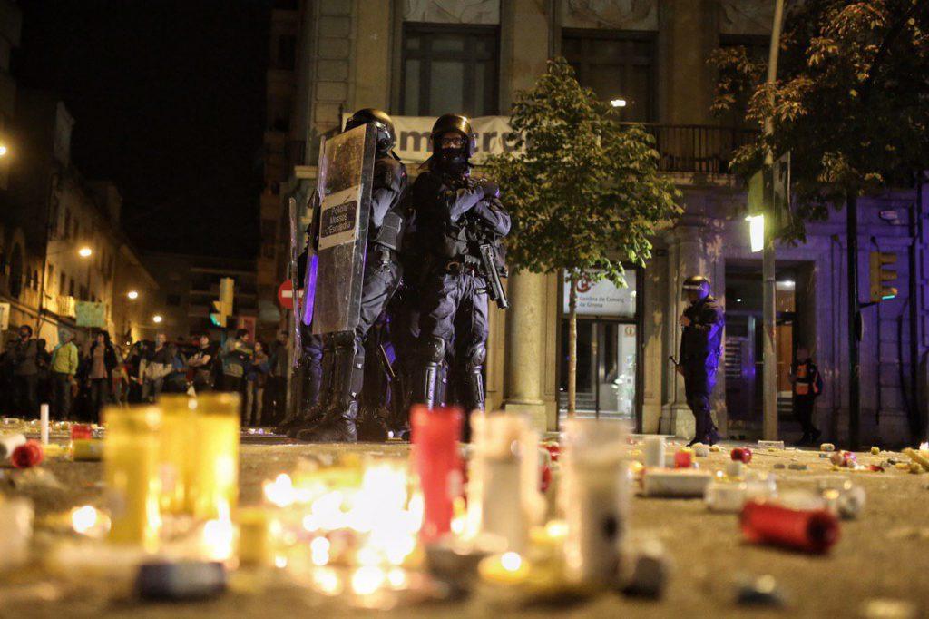 La segunda jornada de protestas contra la sentencia deja más represión policial
