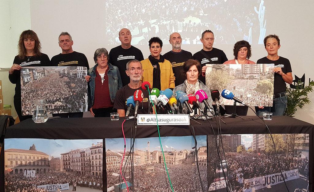 Altsasu, dispuesta a seguir luchando por justicia, llama a abarrotar Iruñea de dignidad el 26 de octubre