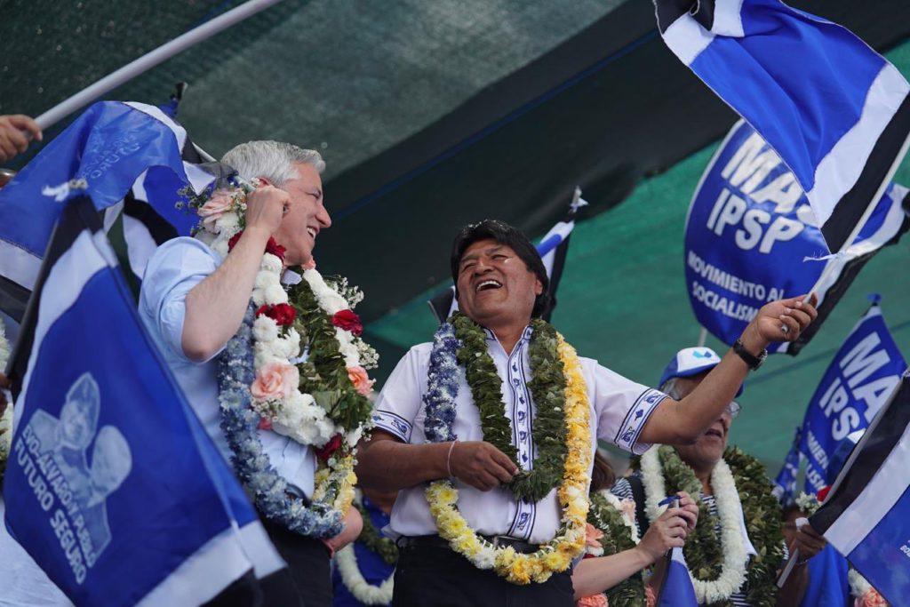 Evo Morales, reelegido presidente de Bolivia en primera vuelta