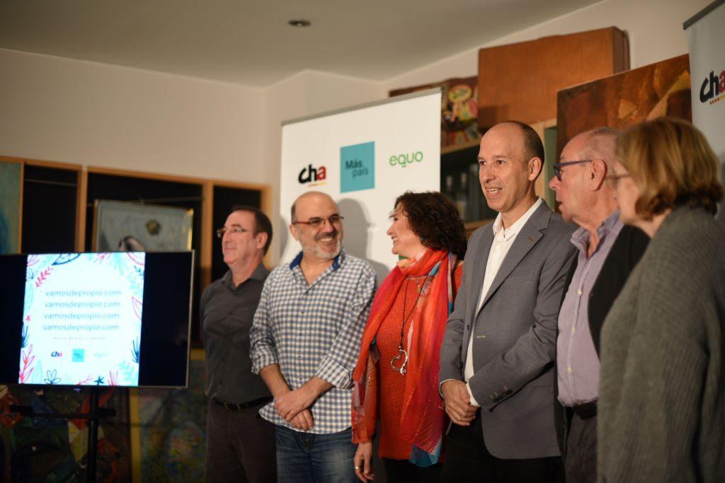 Más País, Chunta Aragonesista y Equo presentan «una Declaración que suma»
