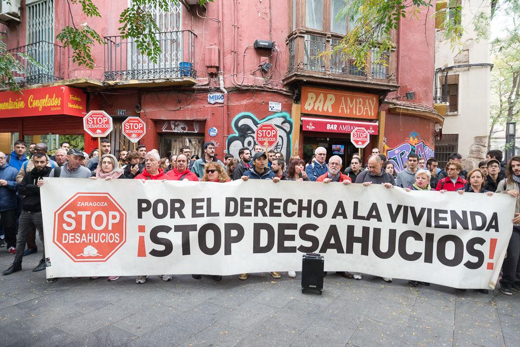Stop Desahucios denuncia los incumplimientos del Gobierno de Aragón en materia de vivienda