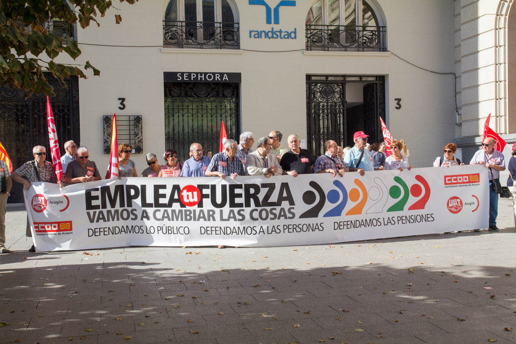 CCOO y UGT Aragón reclaman «mejoras indispensables para nuestros mayores»