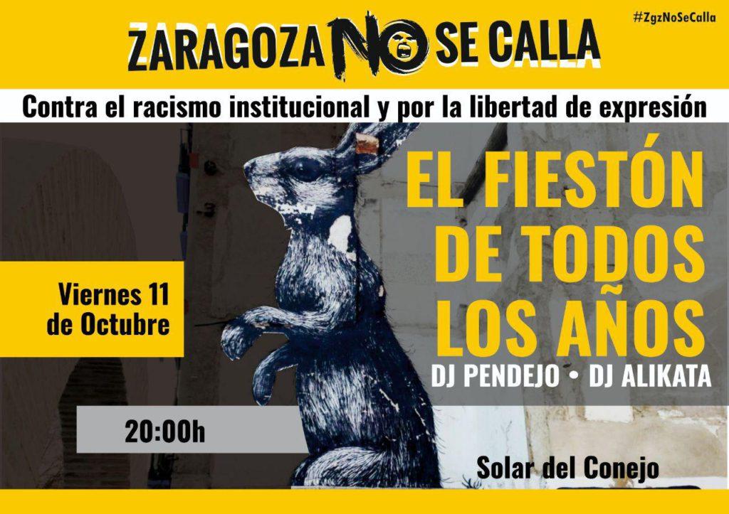 Llega «el fiestón de todos los años» al Solar del Conejo con Zaragoza No Se Calla