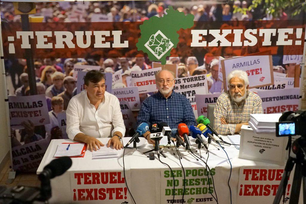 Arranca la agrupación de electores de 'Teruel Existe' apoyada por las firmas de 6.781 turolenses, más del 6% del censo electoral