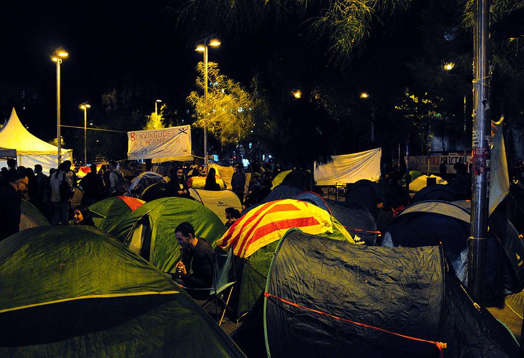 Huelga indefinida y acampada en las universidades catalanas para exigir el fin de la represión