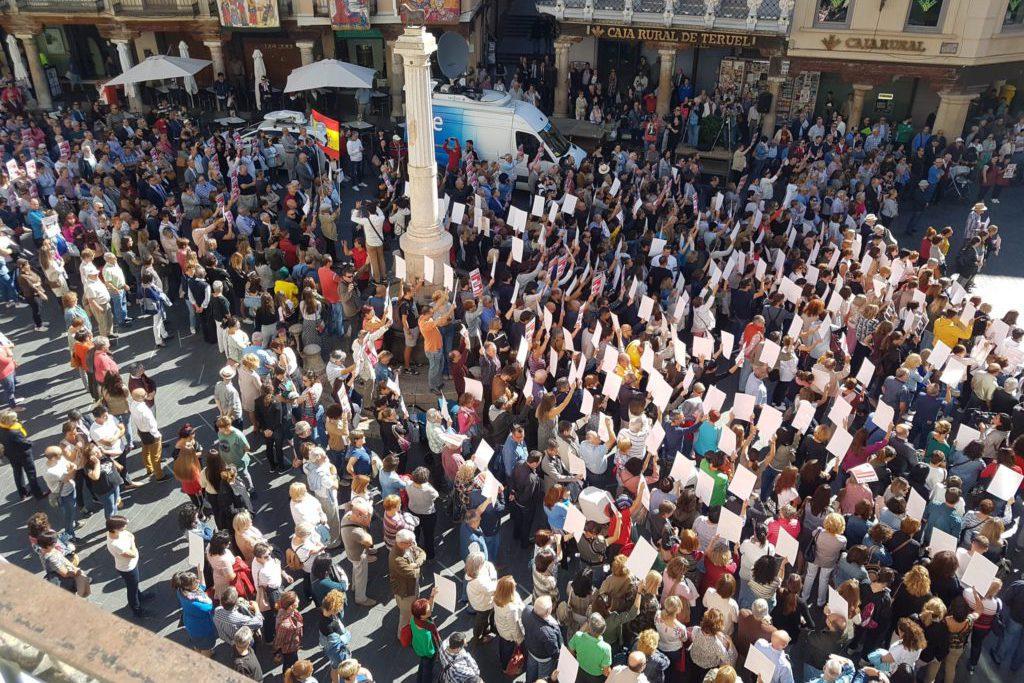 Aragón reivindica mediante miles de movilizaciones la lucha contra la despoblación y la vertebración territorial