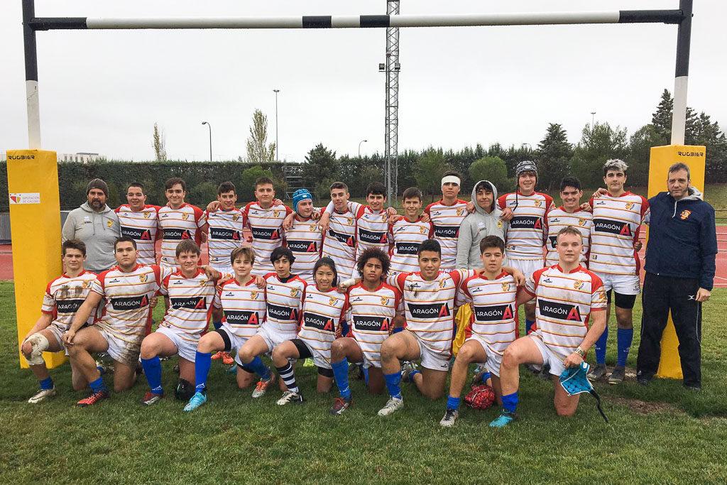 Victoria en los dos partidos de las selecciones aragonesas de Rugby SUB16 y SUB18 ante Extremadura en el CESA