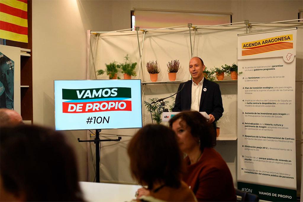 Más País Chunta Aragonesista Equo arranca la campaña electoral recordando el bloqueo institucional de los últimos meses