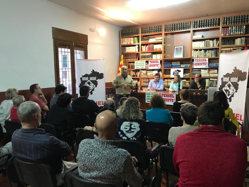 Teruel Existe comienza la campaña en Alcanyiz y en Teruel después de recorrer 20 pueblos del territorio