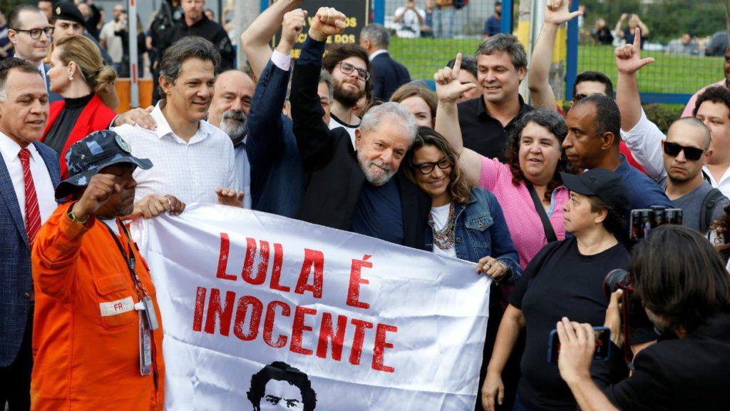 Lula tras salir de prisión, después de un año y siete meses encerrado: «No encarcelaron a un hombre, encarcelaron una idea y una idea no muere»