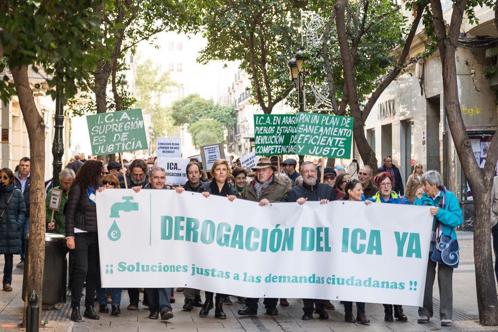 La RAPA se manifiesta en Zaragoza contra la paralización de la derogación del ICA