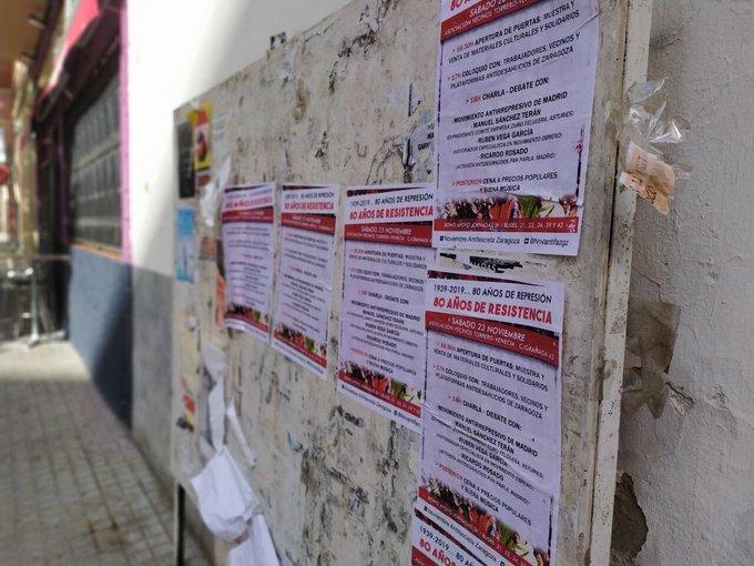 El paro, la represión y los desahucios serán el foco de las Jornadas Noviembre Antifascista de Zaragoza