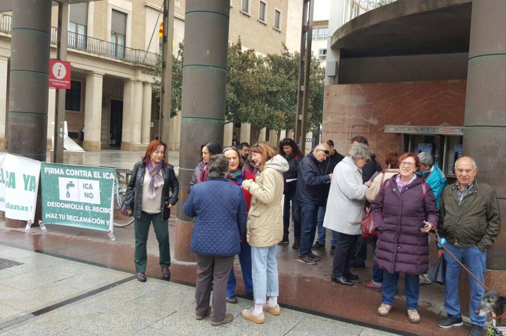 RAPA continúa la campaña contra el ICA a través de concentraciones ante el Ayuntamiento de Zaragoza