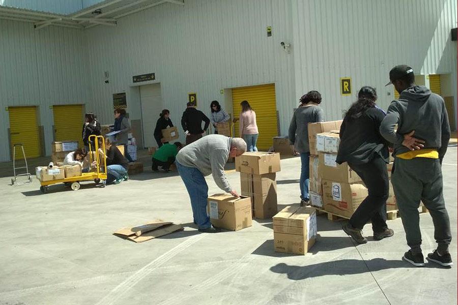 Bienvenidxs Refugiadxs Uesca organiza durante el mes de noviembre unacampaña derecogidaderopa, alimentosy otros enseres