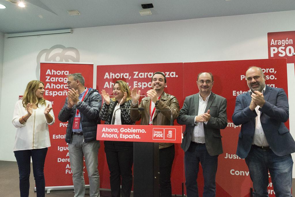 Lambán: «El resultado del 10N va a permitir un Gobierno en España del PSOE, que es bueno para nuestros objetivos y proyectos»