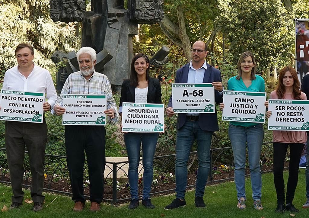Teruel Existe exige «un país con equilibrio e igualdad» y financiación para un Pacto de Estado contra la despoblación