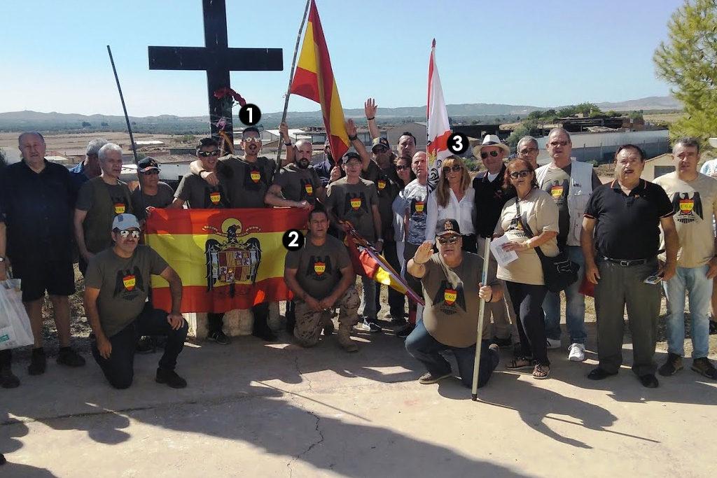 Acto de exaltación pública del franquismo y su violencia política por líderes de Vox en Belchite