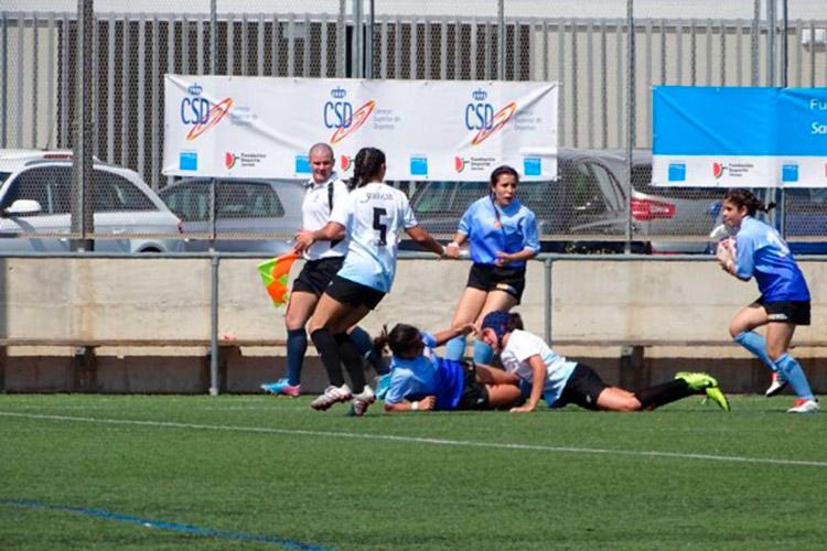 Aragón XV femenino S16-18 juega su primer partido de rugby en Sant Boi de Llobregat