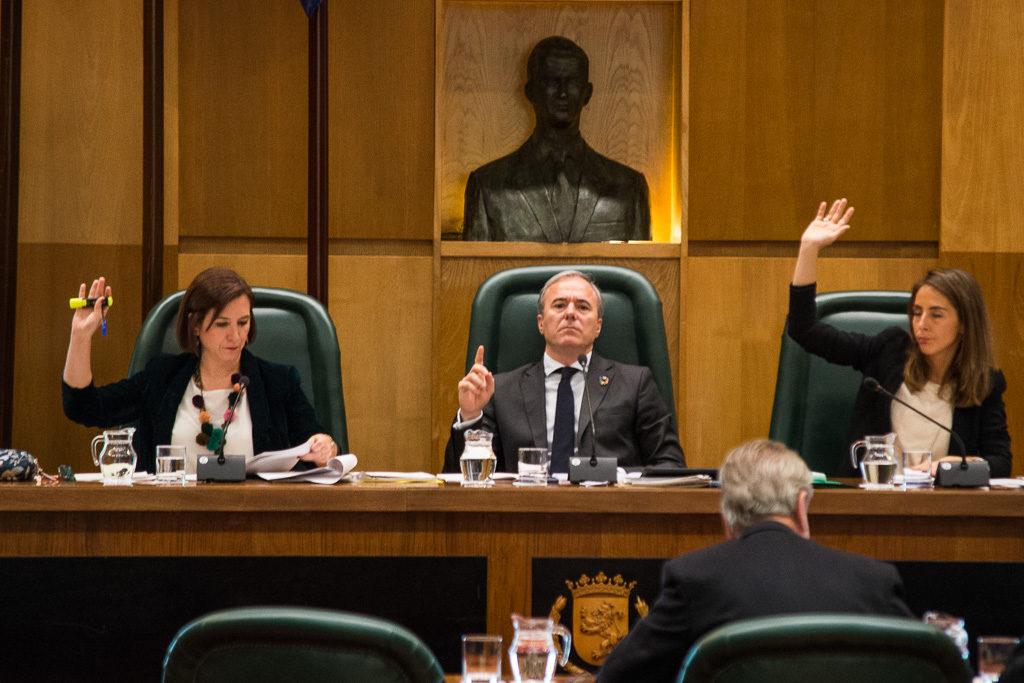La oposición presenta 447 enmiendas a los presupuestos para que Zaragoza vuelva a ser de la mayoría social