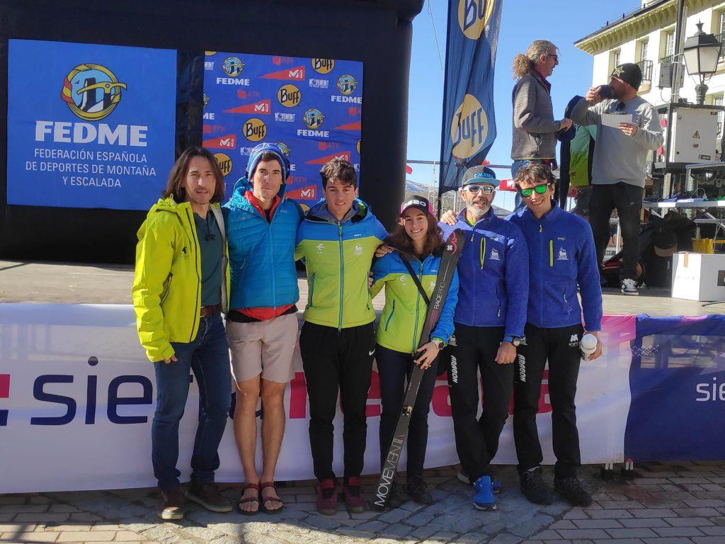 Aragón suma seis medallas en la primera prueba de la Copa estatal de esquí de montaña