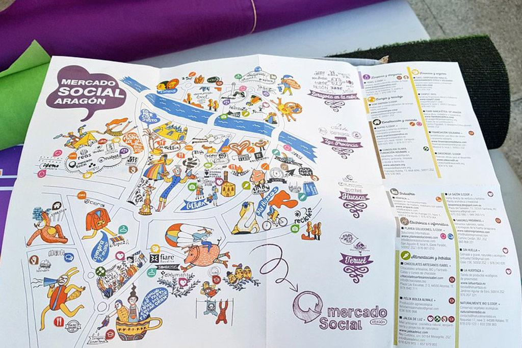 La X Feria del Mercado Social de Aragón muestra alternativas de consumo responsable