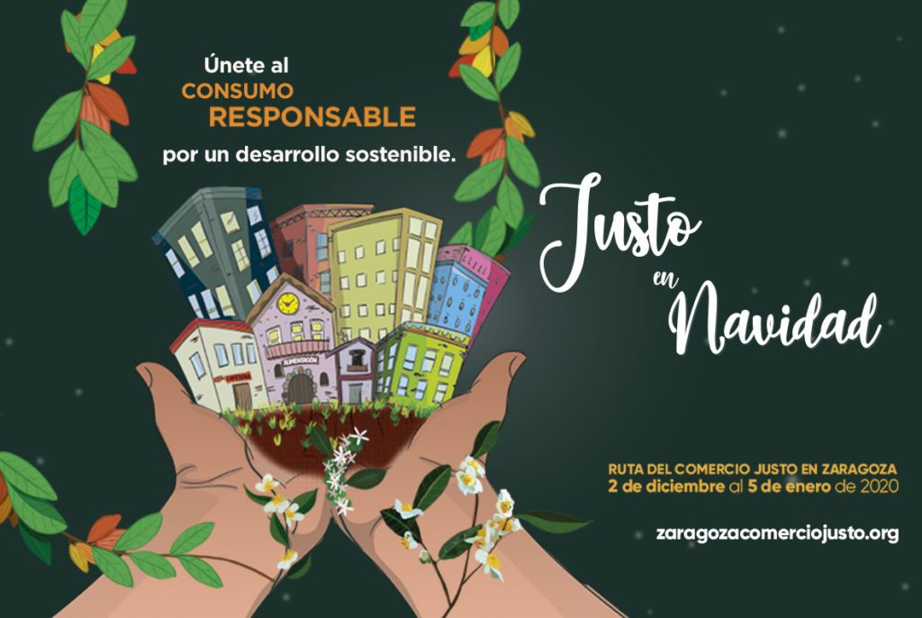 La FAS organiza la 5ª Ruta del Comercio Justo en Zaragoza dentro de la campaña «Justo en Navidad 2019»