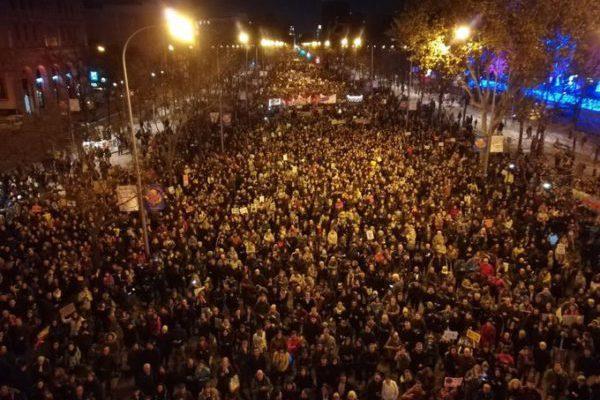 La Marcha por el Clima reúne a más de medio millón de personas durante la celebración de la COP25
