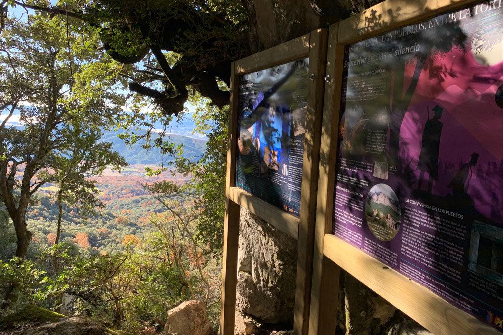 Recuperan el sendero del refugio de la guerrilla antifranquista en la Peña Montañesa
